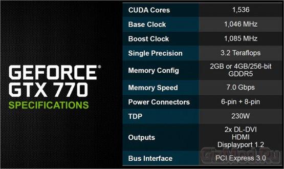 Официально представлена GeForce GTX 770 от NVIDIA