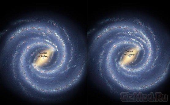 """Ученые уточнили строение Млечного Пути и """"адрес"""" Земли"""