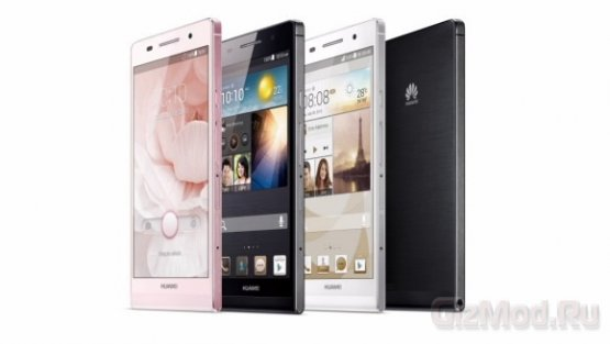 Анонсирован самый тонкий смартфон Huawei Ascend P6