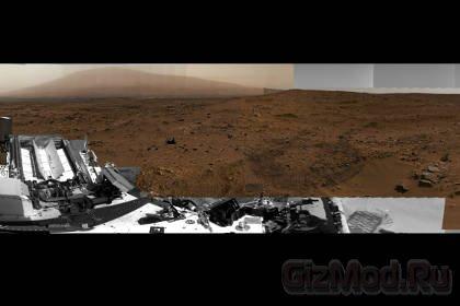 """Гигапиксельная панорама Марса """"глазами"""" Curiosity"""