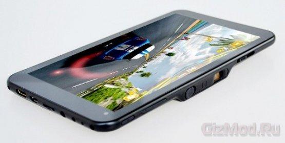 DLP-проектор встроили в планшет SmartQ U7