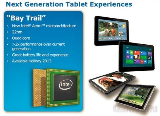 Подробности о процессорах платформы Intel Bay Trail