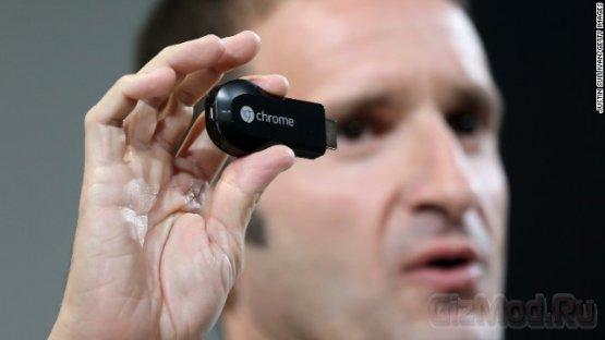 """Телеприставка Chromecast размером с """"флешку"""""""