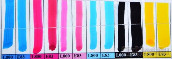 Тест и сравнение светостойких чернил WWM Е83