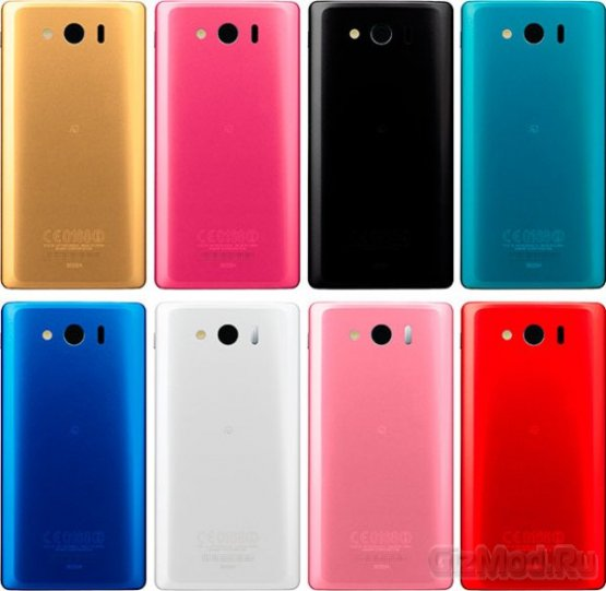 """Безрамочный"" смартфон Sharp Aquos Phone Xx 302SH"