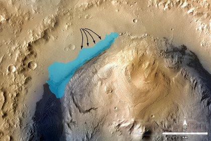 «Кьюриосити» натолкнулся на пропавшее озеро