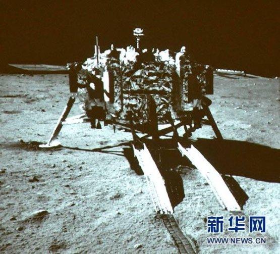 """Высадка китайского """"Нефритового кролика"""" на Луну"""