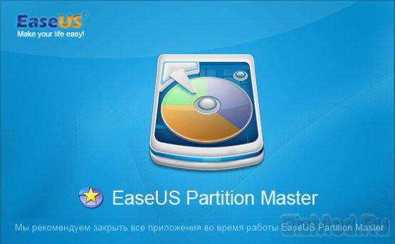 EASEUS Partition Master 10.0 - управление разделами HDD