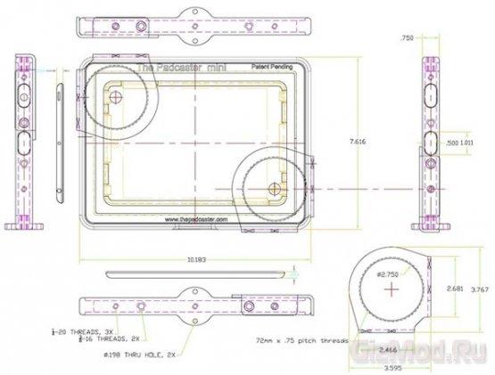 Рамка Padcaster Miniо преобразит iPad mini