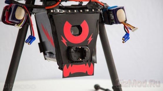 Реальный автономный охранный дрон
