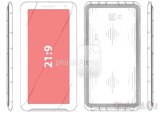Samsung патентует смартфон с экраном 21:9