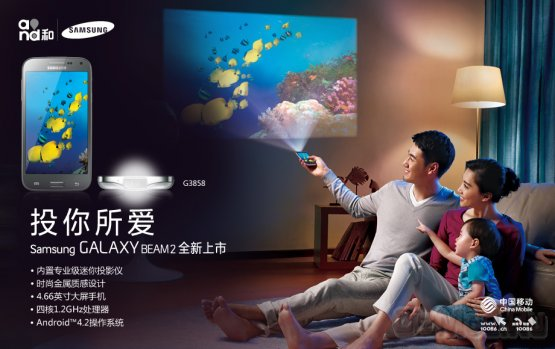 Смартфон с проектором Galaxy Beam 2