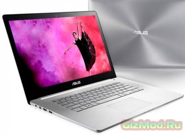 "Ноутбук Asus Zenbook NX500 с 15.6"" экраном 3840х2160"