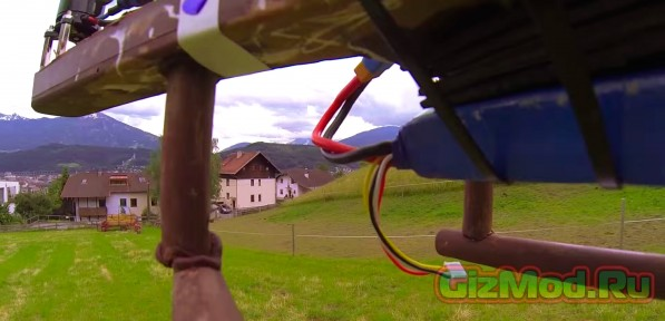 Летающий шоколадный квадрокоптер