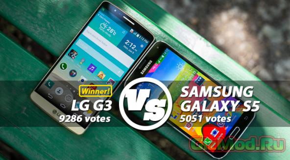 LG G3 оказался предпочтительнее за Samsung Galaxy S5