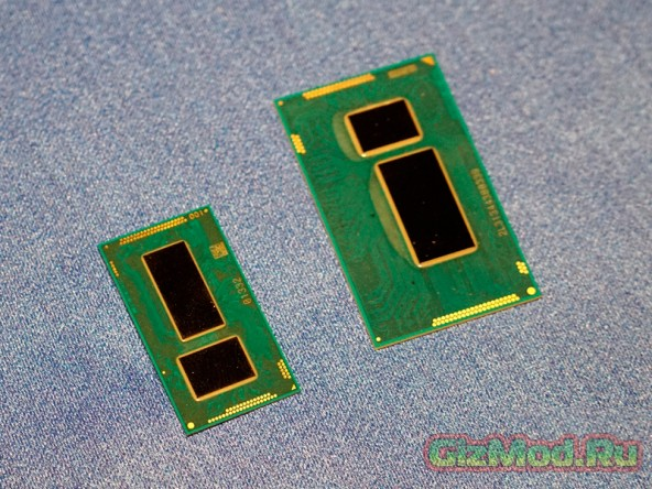 Фото 14-нм процессоров  Intel Core M Broadwell