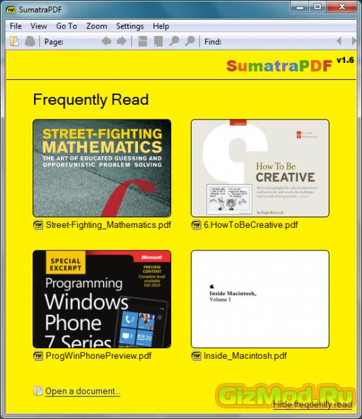 Sumatra PDF 2.6.9495 Beta - удобная читалка PDF