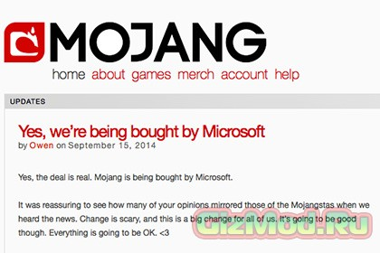 Microsoft подмяла под себя разработчика Minecraft