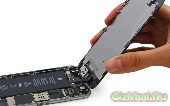 iPhone 6 набрал 7 баллов по шкале ремонтопригодности