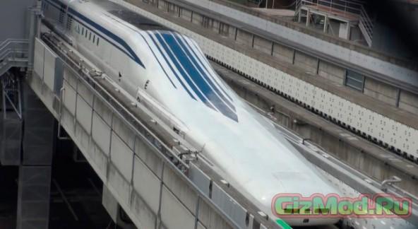 Испытания поезда на магнитной подушке