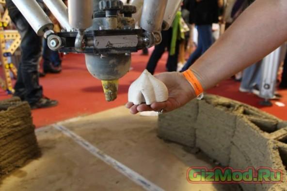 Дом из грязи, который построил 3D-принтер