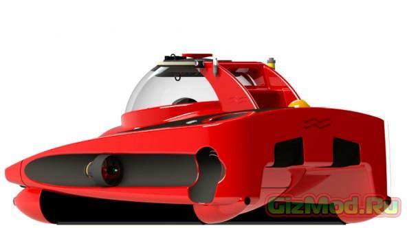 Компактная субмарина с дизайном под Ferrari