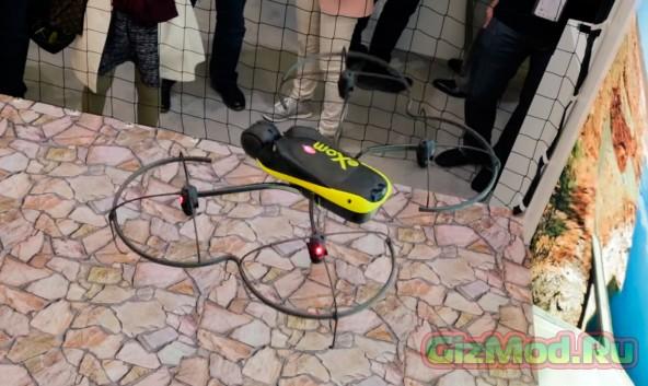 Беспилотник с ультразвуковыми и визуальными датчиками
