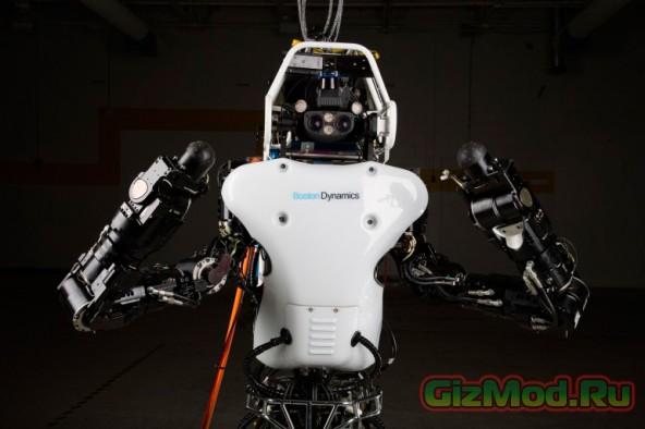 Робот Atlas учится ходить