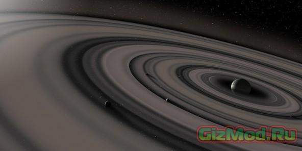 Экзопланета с гиганскими кольцами