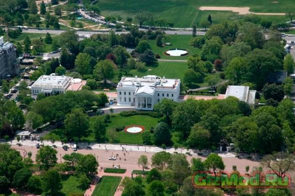 Дрон на территории Белого дома