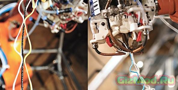 Автоматизированный 3D-принтер плетет паутину
