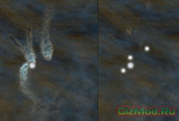 Рождение тройной звездной системы