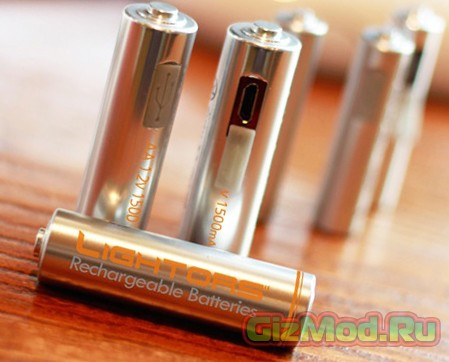 Батарейка, которая заряжается через USB