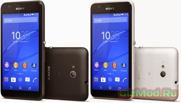 Немудреный LTE смартфон Sony Xperia E4g