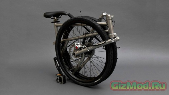 Компактный складной велосипед
