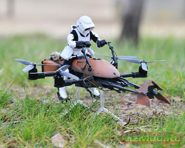 Миниатюрный имперский солдат на беспилотнике