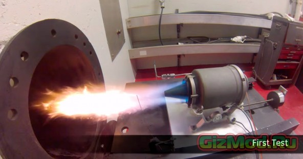 Реактивный двигатель из 3D-напечатанных деталей