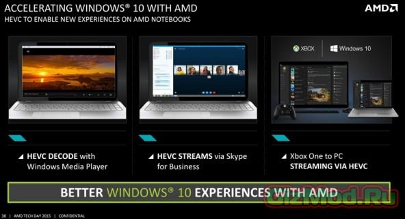 Представлены ноутбучные процессоры AMD Carrizo