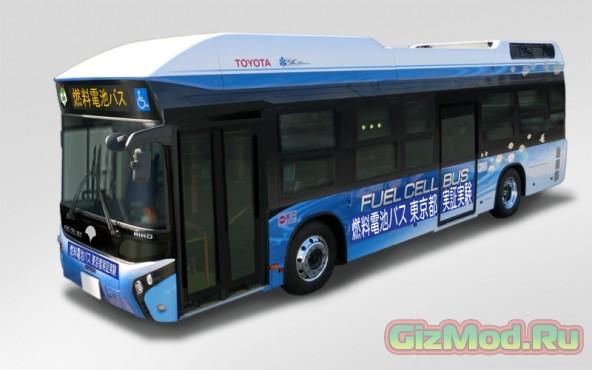 Toyota тестирует автобус на топливных ячейках