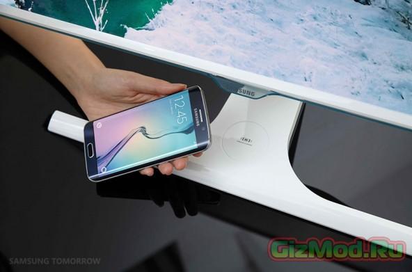 Монитор от Samsung может заряжать ваш смартфон без проводов