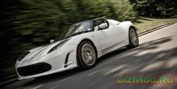 Новый аккумулятор для электромобиля Tesla Roadster