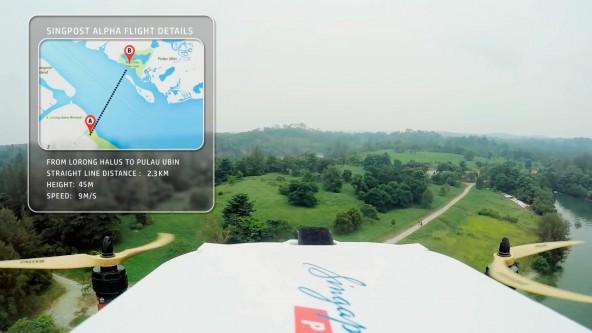 Тестирование дронов почтой Сингапура