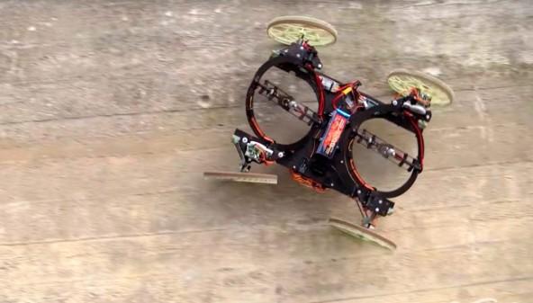 Робот-автомобиль передвигается по стенам