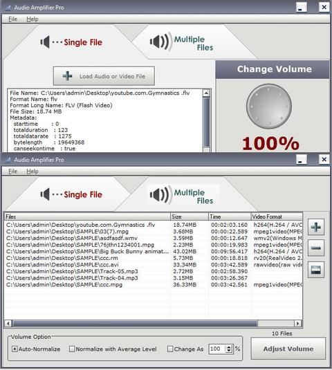 Audio Amplifier Pro 2.1.6 - регулировка уровня звукового сигнала