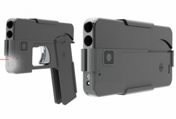 Пистолет похожий на смартфон