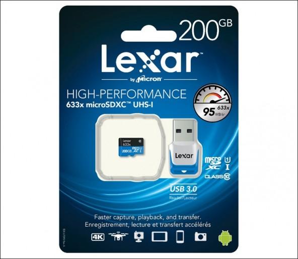 MicroSD карточка Lexar на 200 Гб