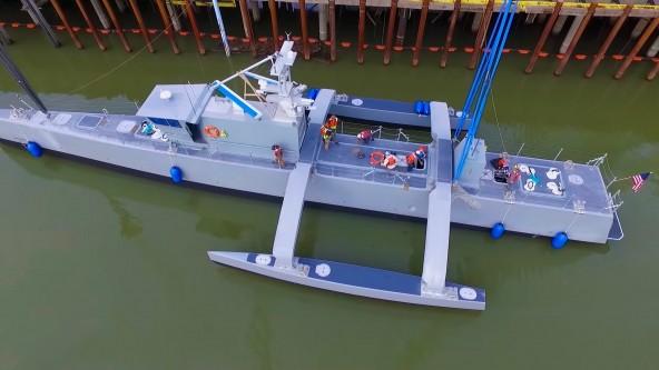 DARPA разработала автономный военный корабль