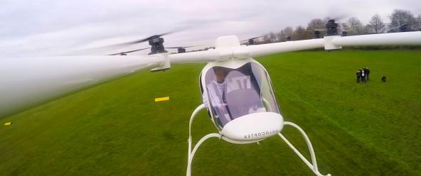 Первый полёт пассажирского коптера