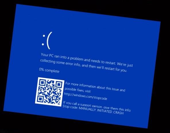 Экран смерти теперь будет с QR-кодом