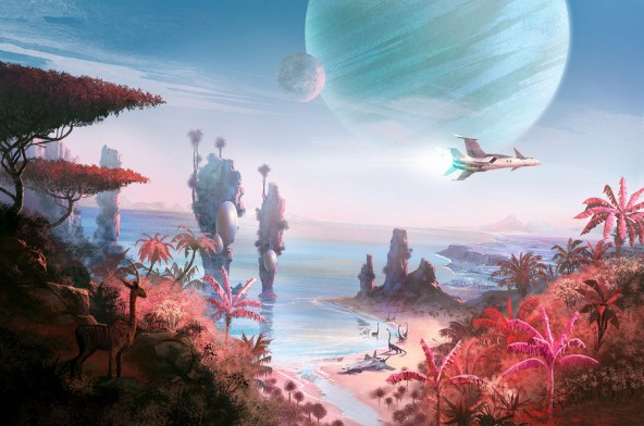 Видео исследование планет в симуляторе No Man's Sky
